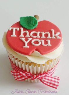 Teachers Thank You Cupcakes
