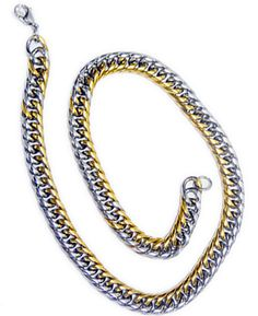 Trendy Gents Antique chain Silver and Gold combination