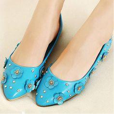 Womens Shoes, Pumps Shoes, Beautiful Blue PU Round Closed Toe Chunky Heel Basic Pumps