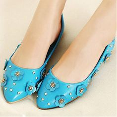 Womens Shoes, Pumps Shoes, Beautiful Blue PU Round Closed Toe Chunky Heel Basic Pumps