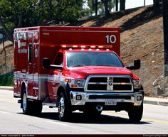 Dodge Ambulance Los Angeles Fire Department Emergency Apparatus Fire Truck Photo