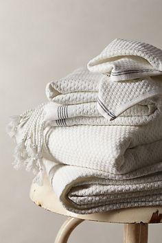 Mediterranean Bath Towel #anthropologie.  All three; bath towel, hand towel and washcloth