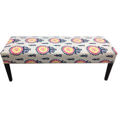 Offer guests an extra seat or set a tray of homemade hors d'oeuvres on this eye-catching upholstered bench, an enviable addition to your living room, den, or...