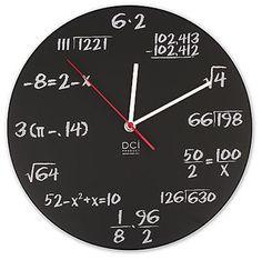 Reloj matemático.