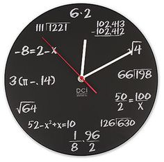 I am totally going to find a way to make a chalkboard clock and draw math problems for students to solve as they tell time.
