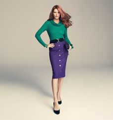 bright colours can look great together.. LOVE the pencil skirt!
