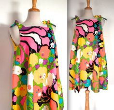 Vintage 1960s Dress // 60s Bold Abstract Mod by TrueValueVintage