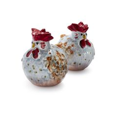 Jacques Pepin Collection Chicken Salt and Pepper Shakers ($30) ❤ liked on Polyvore featuring home, kitchen & dining, serveware, chicken salt and pepper shakers and sur la table