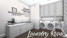 bloxburg laundry rooms - Yahoo Image Search Results tips tips and tricks tips for big families tips for hard water tips for towels Modern Family House, Family House Plans, Bedroom House Plans, House Rooms, Home Building Design, Building A House, House Design, Tiny House Layout, House Layouts