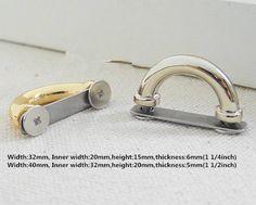 Metal Fermoir Twist Lock Verrou Tournant Pour Sacs À Main Sacs Fermoirs Attache Artisanat Bricolage