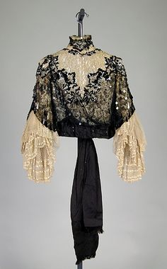 Evening ensemble Date: 1890–95 Culture: American Medium: silk Accession Number: 2009.300.1113a–c