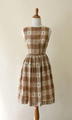 1950s vintage dress - 50s plaid dress  ▼ Bellevue Dress ▼