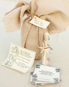 """See the """"Message in a Bottle Invitation"""" in our Beach Wedding Invitations gallery"""