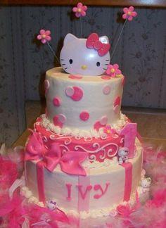Hello Kitty Birthday cake ~~ hello-kitty
