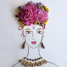 #facethefoliage flower art by Vicki Rawlins via Sister Golden Instagram