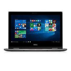 """Dell i5368-10024GRY 13.3"""" FHD 2-in-1 Laptop (Intel Core i7-6500U 2.5GHz Processor 8 GB RAM 256 GB SDD Windows 10 Microsoft Signature Image) Gray"""