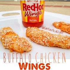 Ripped Recipes - Healthy Buffalo Chicken Wings - So simple yet so flavorful, healthy and delish! You will think its game day every day!
