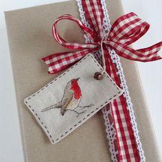 Robin Gift Tags | SET OF 3 | Cross Stitch