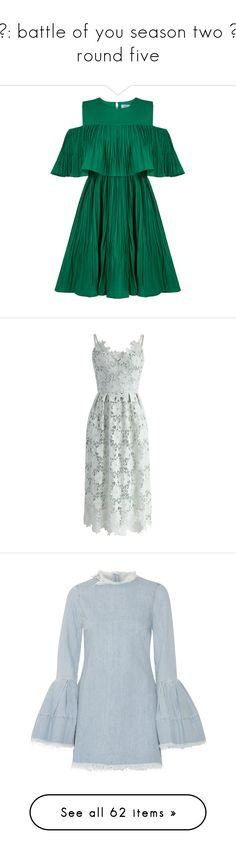 """""""♚: battle of you season two ∘ round five"""" by miky94 ❤ liked on Polyvore featuring bousO2, art, dresses, cutout shoulder dresses, formal wear dresses, formal dresses, cut-out shoulder dresses, formal occasion dresses, green and crochet dress"""