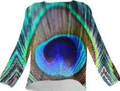 Peacock Feather Silk Top - Available Here: http://printallover.me/collections/sondersky/products/0000000p-peacock-feather-17