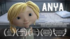 "CGI Animated Shorts HD: ""ANYA"" - by Brown Bag Films/ oooow it's sad, but the end she find happenes <3"