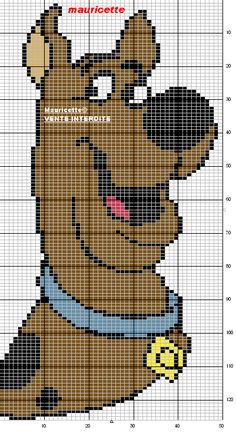 Scooby Doo Cross Stitch Pattern use graph for graph afghan