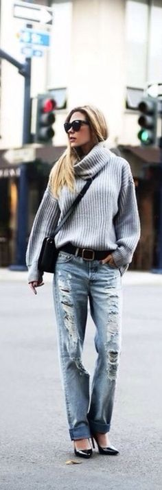 Turtleneck & Denim