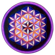 Flower of life - easy pattern tutorial, use Google Translate  #art #journal