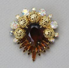 vintage juliana d+e rhinestone brooch
