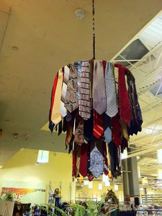 Anthropologie store at Lenox Mall in Atlanta by sassycrafter, via Flickr. Could be done with scrap fabric also.