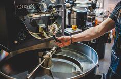 Giesen roastery machine in 9 grams coffee