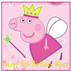 Peppa pig pink princess fairy edible personalised Square cake topper icing sheet | Home, Furniture & DIY, Cookware, Dining & Bar, Baking Accs. & Cake Decorating | eBay!