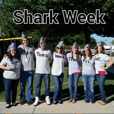 Shark Week + The Victim Halloween Group Costume | onebrokestudent | Pinterest | Shark party  sc 1 st  Pinterest & Shark Week + The Victim Halloween Group Costume | onebrokestudent ...