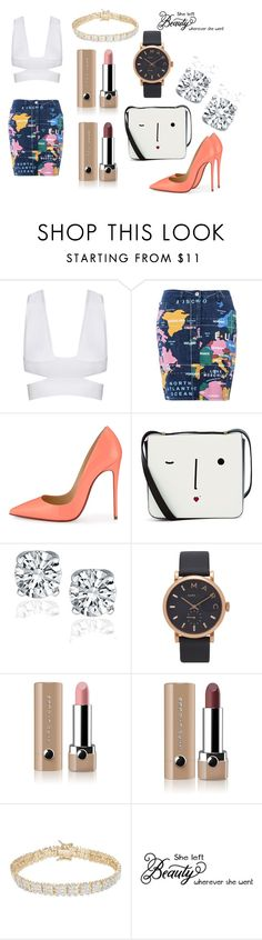 """""""Bad Teacher"""" by marthabr on Polyvore featuring Love Moschino, Christian Louboutin, Lulu Guinness, Marc Jacobs and Finesque"""