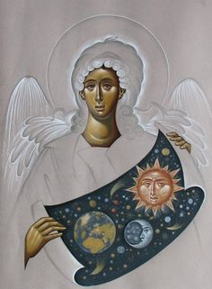 Whispers of an Immortalist: Icons of Holy Angels 3 Religious Images, Religious Icons, Religious Art, Byzantine Icons, Byzantine Art, Jesus Mary And Joseph, Gothic Angel, Archangel Raphael, Biblical Art