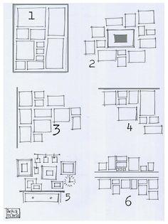 Photo wall layouts