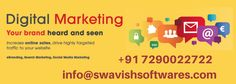 Want to promote your business Online? Don't give your self a second thought,come and join with Swavish Softwares. We are known for the work we do.Its time to go digital this time with Swavish Softwares. Contact Us: 7290022722 Best Digital Marketing Company, Best Seo Company, Digital Marketing Services, Seo Services, Internet Marketing Agency, Social Media Marketing Companies, Popular Search Engines, Search Engine Optimization, Engineering