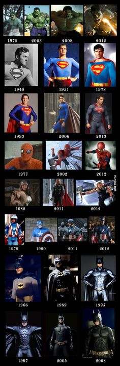 Superheroes - Then and Now...Personally, I miss a few of the earlier looks