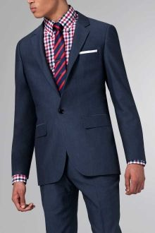The ultimate slate blue cotton wool suit wool plaid for Navy suit checkered shirt