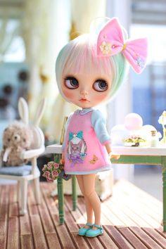 Juju's*Blythe outfit kindergarten-pink