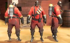 TF2 - Team Fortress 2 - Reference Pictures | The Pyro - Full Body