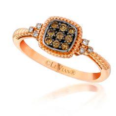 Petite chocolate diamond ring