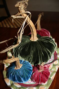 DIY....Velvet Pumpkins...I am pinning all the DIY Velvet Pumpkins. Going to try each way and choice the one that fits my style.