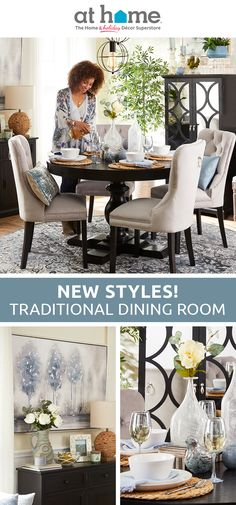 Home Improvement Blogs, Home Improvement Companies, Interior Design Living Room, Living Room Decor, Bedroom Decor, Tufted Dining Chairs, Dining Tables, Dining Rooms, Room Setup