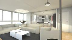 Fantástico proyecto de salón en 3D para una de nuestras reformas