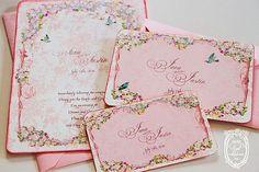 Wedding Invitations Suite la Belle Rouge Roses Marie by papernosh: 16.50