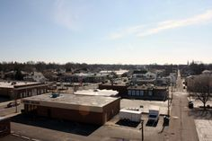 Richmond, IN: Richmond indiana on top of the parking garage