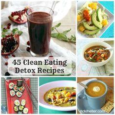 January Clean-Up: 45 Whole-Foods, Vegan Detox Recipes via @rickiheller