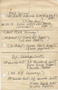 Homemade Pork Sausage Recipes