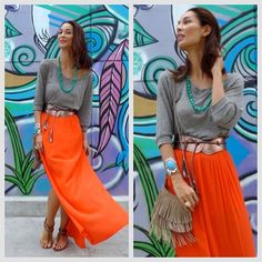 .@Joey Ceunen Mead King   #rocknboho love for the long maxi skirt! On my #fashionblog rocknboho.com by ...   Webstagram - the best Instagram viewer